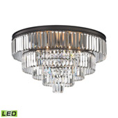 Crystal Palacial 6 Light Led Chandelier In Oil Rubbed Bronze - Elk Lighting 15226/6-LED