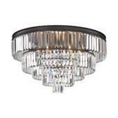 Crystal Palacial 6 Light Chandelier In Oil Rubbed Bronze - Elk Lighting 15226/6