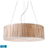 Modern Organics 5 Light Led Pendant In Polished Chrome And Bamboo Stem - Elk Lighting 19063/5-LED