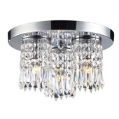 Crystal Optix Flush Mount Ceiling Fixture - Elk Lighting 1990/3