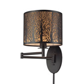 Woodland Sunrise 1 Light Swingarm In Aged Bronze - Elk Lighting 31069/1