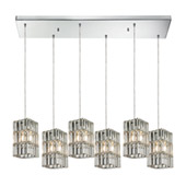 Crystal Cynthia 6 Light Pendant In Polished Chrome And Clear K9 Crystal - Elk Lighting 31488/6RC