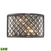 Crystal Genevieve 2 Light Led Wall Sconce In Oil Rubbed Bronze - Elk Lighting 32100/2-LED