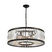 Palacial 9-Light Chandelier in Oil Rubbed Bronze with Clear Crystal - Elk Lighting 33067/9
