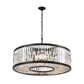 Palacial 11-Light Chandelier in Oil Rubbed Bronze with Clear Crystal - Elk Lighting 33068/11