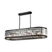 Palacial 14-Light Linear Chandelier in Oil Rubbed Bronze with Clear Crystal - Elk Lighting 33069/14