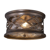 Classic/Traditional Barrington Gate Outdoor Flush Mount Ceiling Fixture - Elk Lighting 42037/2