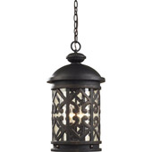 Classic/Traditional Tuscany Coast Exterior Hanging Pendant - Elk Lighting 42063/3
