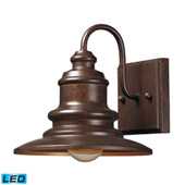 Marina 1 Light Outdoor Led Sconce In Hazelnut Bronze - Elk Lighting 47010/1-LED