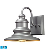 Marina 1 Light Outdoor Led Sconce In Matte Silver - Elk Lighting 47020/1-LED