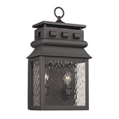 Forged Lancaster 2 Light Outdoor Sconce In Charcoal - Elk Lighting 47061/2