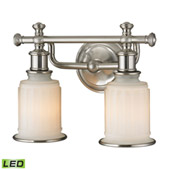 Acadia 2 Light Led Vanity In Brushed Nickel - Elk Lighting 52001/2-LED