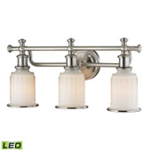 Acadia 3 Light Led Vanity In Brushed Nickel - Elk Lighting 52002/3-LED