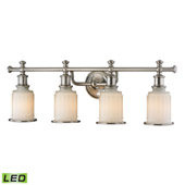 Acadia 4 Light Led Vanity In Brushed Nickel - Elk Lighting 52003/4-LED
