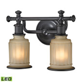 Acadia 2 Light Led Vanity In Oil Rubbed Bronze - Elk Lighting 52011/2-LED