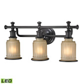 Acadia 3 Light Led Vanity In Oil Rubbed Bronze - Elk Lighting 52012/3-LED