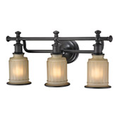 Acadia 3 Light Vanity In Oil Rubbed Bronze - Elk Lighting 52012/3