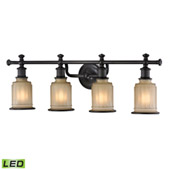 Acadia 4 Light Led Vanity In Oil Rubbed Bronze - Elk Lighting 52013/4-LED