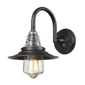 Insulator Glass 1 Light Wall Sconce In Oiled Bronze - Elk Lighting 66812-1