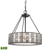 Ethan 3 Light Led Chandelier In Tiffany Bronze - Elk Lighting 70212/3-LED