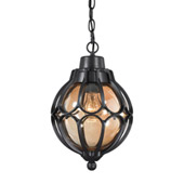 Madagascar 1 Light Outdoor Pendant In Hazelnut Bronze - Elk Lighting 87023/1