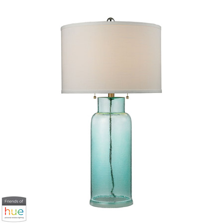ELK Home D2622-HUE-D Seafoam Green Water Glass Bottle Table Lamp - with Philips Hue LED Bulb/Dimmer