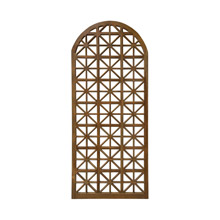 ELK Home 1017504BU Arched Teak Lattice Floor Screen Mirror