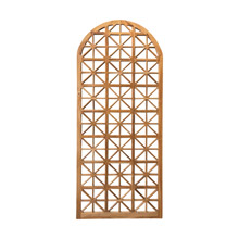 ELK Home 1017504ET Arched Teak Lattice Floor Mirror