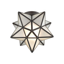 ELK Home 1145-010 Moravian Star 1-Light Flush Mount in Oil Rubbed Bronze with Frosted Glass