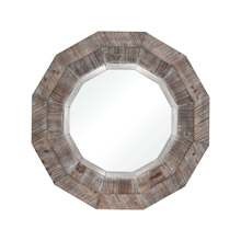 ELK Home 3116-035 Loggerhead Mirror in Salvaged Grey Oak and German Silver