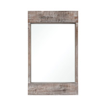 ELK Home 3116-047 Dunluce Mirror in Natural Fir Wood with White Antique