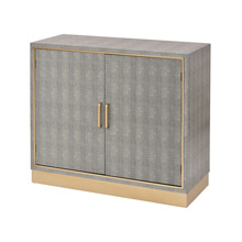 ELK Home 3169-100 Sands Point 2-Door Cabinet in Grey and Gold