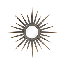 ELK Home 326-8755 Newtown Star Mirror in Antique Gold