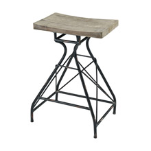 ELK Home 351-10638 Paloma Bar Stool in Natural Wood and Dark Bronze