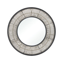 ELK Home 351-10761 Recalibrate Mirror in Grey Rattan and Black