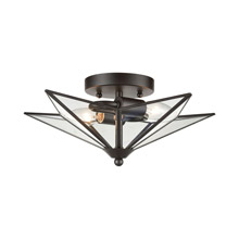 ELK Home D4385 Moravian Star 2-Light Flush Mount in Oil Rubbed Bronze - Small