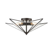 ELK Home D4386 Moravian Star 5-Light Flush Mount in Oil Rubbed Bronze - Large