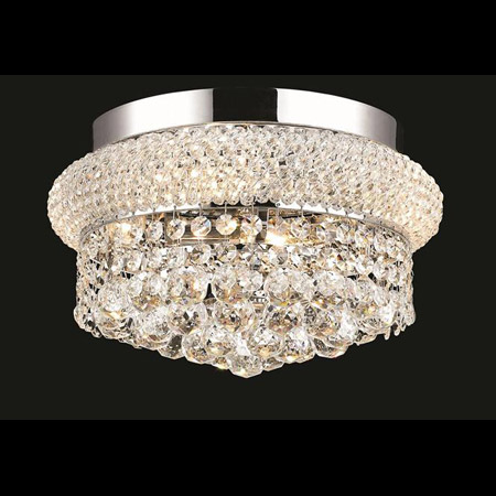 Elegant Lighting 1800f12c Ec Crystal Primo Flush Mount