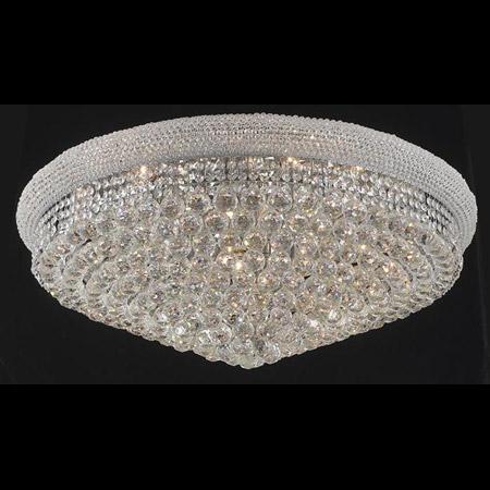 Elegant Lighting 1800f36cec Crystal Primo Large Flush Mount Ceiling