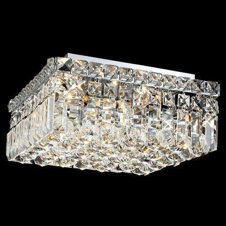 Elegant Lighting 2032f12c Ec Crystal Maxime Square Flush