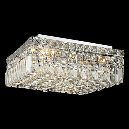 Elegant Lighting 2032f14c Ec Crystal Maxime Square Flush