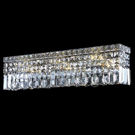 Bathroom Vanity Lighting Crystal Lighting 2032w26c/ec Crystal Maxime 26 In.  Vanity Light