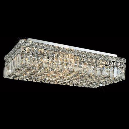 Elegant Lighting 2034f24c Ec Crystal Maxime Rectangular Flush Mount Ceiling Light Fixture Clear