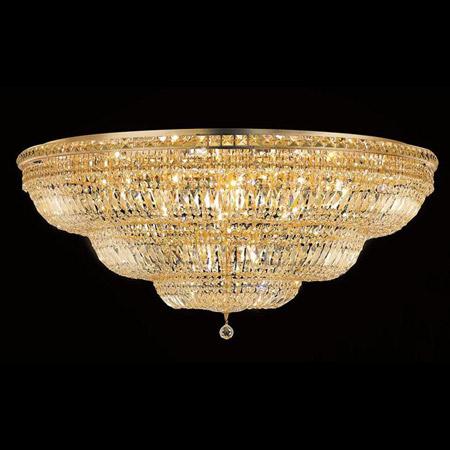Elegant Lighting 2528f48g Ec Crystal Tranquil Large Flush