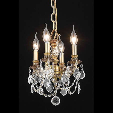 Elegant Lighting 9104D10FG/EC Crystal Lillie Mini Chandelier Pendant - (Clear)