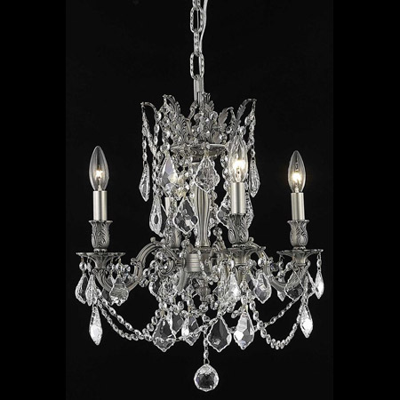 Elegant Lighting 9204D17PW/EC Crystal Rosalia Mini Chandelier - (Clear)