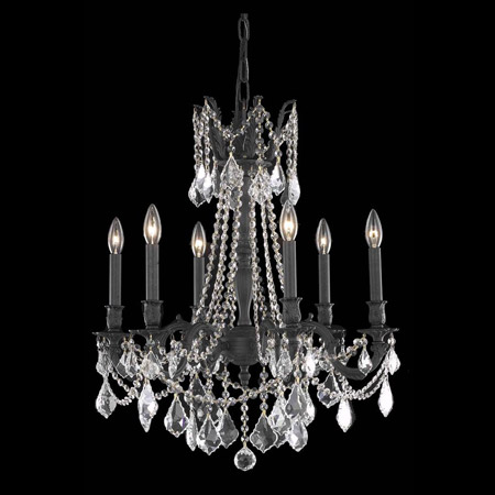 Elegant Lighting 9206D23DB/EC Crystal Rosalia Chandelier - (Clear)