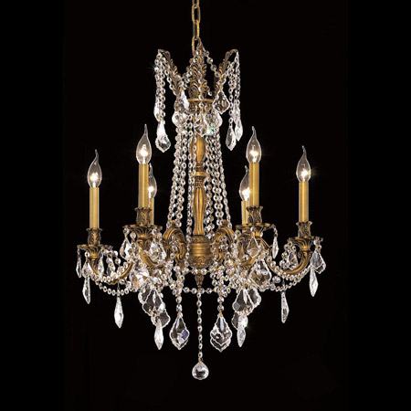Elegant Lighting 9206D23FG/EC Crystal Rosalia Chandelier - (Clear)