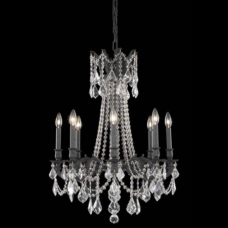 Elegant Lighting 9208D24DB/EC Crystal Rosalia Chandelier - (Clear)