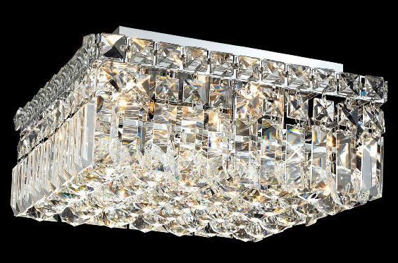 Elegant Lighting 2032f12c Ec Crystal Maxime Square Flush Mount Ceiling Fixture